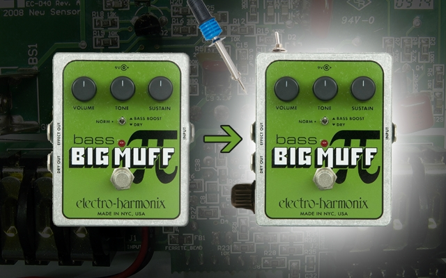 Modifications (Master Volume & Feedback) de l'EHX Bass Big Muff